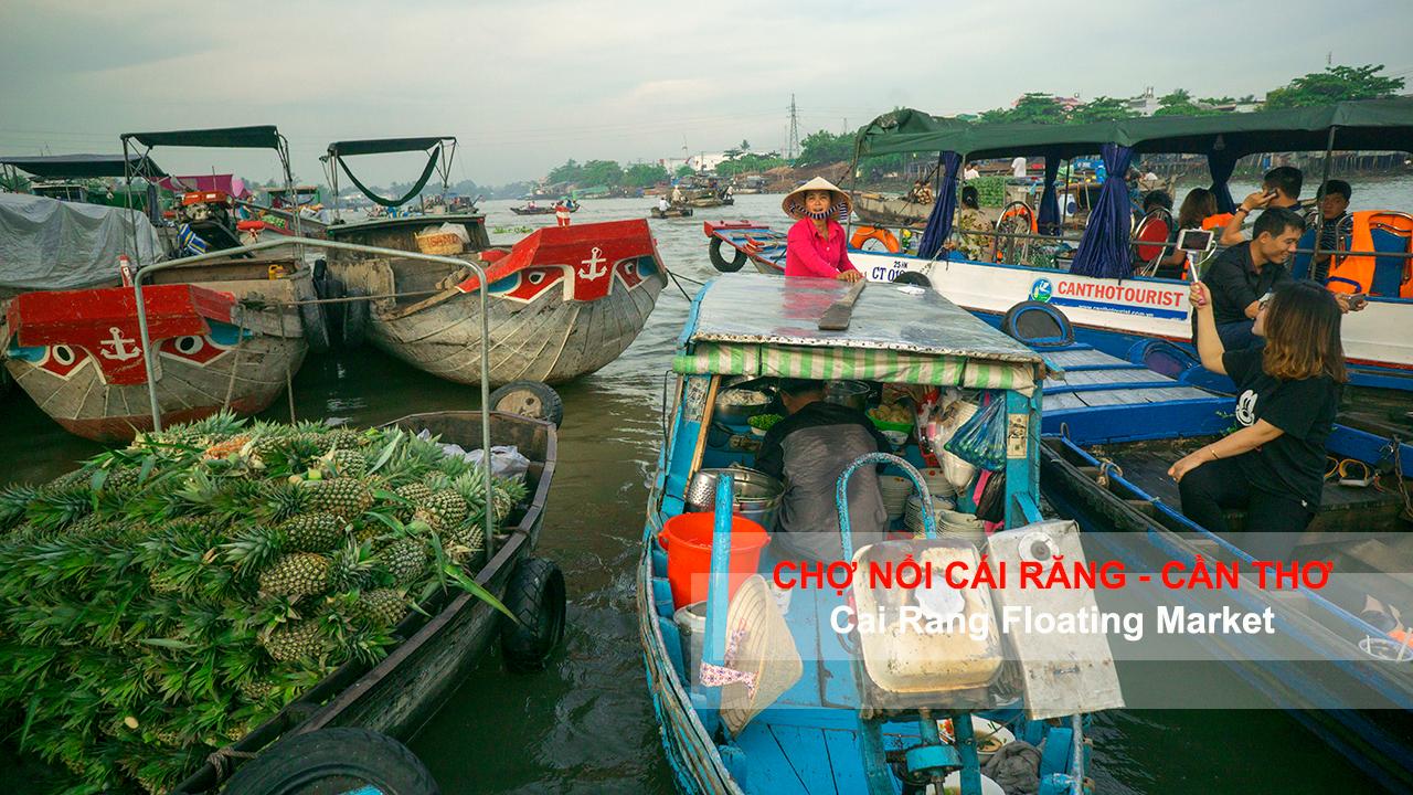 Chợ nổi Cái Răng - Cần Thơ 2017